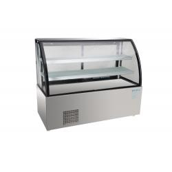 China cake display counter refrigerator,hot sale clear plastic acrylic wedding cake display counter on sale