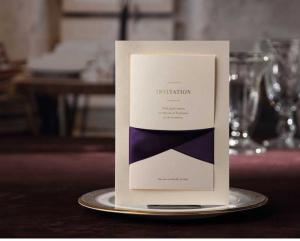 luxury_paper_wedding_and_business_invitation_cards_designs_with_purple_ribbon_cw2042 luxury paper wedding and business invitation cards designs with,Luxury Invitation Cards