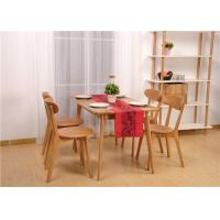 Hardwood Oak Dining Table And Chairs , High Standard Rectangle Formal Dining Room Sets