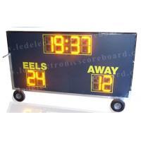 Waterproof Multi Sport Scoreboard , Football Field Scoreboard With Wheel Stand