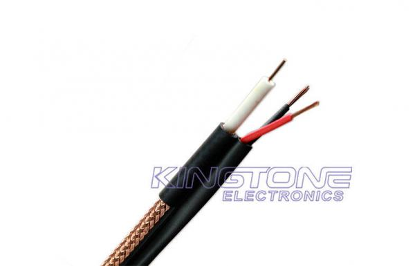 China 18 AWG BC 95% BC Braid RG6/U CCTV Coaxial Cable , CMR Siamese for Ethernet supplier