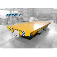 industrial material handling electric rail transfer cart for steel mill