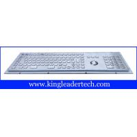 Rugged metal industrial keyboard with trackball, 103 function keys and number keypad