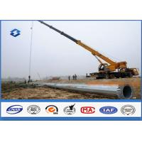 Hot Dip Galvanized Power Transmission Poles / Power And Data Distribution Poles