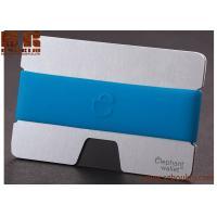 promotion wood slim wallet money clip with credit Ebony  card holder