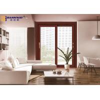 Wood Grain Aluminium Sliding Door Profiles Thermal Break Abrasion Resistant