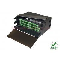 144 Port Optical Patch Panel 4U 19 Inch Rack Mount Fiber Enclosure With 12 LGX Adapter Plater