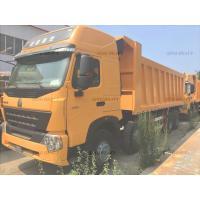 Manual Heavy Duty Dump Truck for Unloading , EURO III Emission Standard 60T 8x4 Tipper Truck