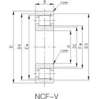 Precision Cylindrical Roller Bearings: NJ/NCF-V Cylindrical Roller Bearing NCF3036V