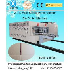 China High Speed Printing Slotting Die-Cutter Auto Carton Packing Machine 6mm Thickness on sale