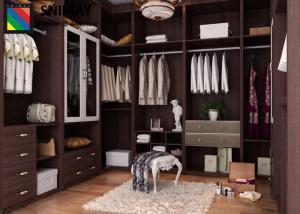 Bedroom Mixed Wood Varieties In The With Dark Closet And Texture Flooring