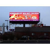 Waterproof 1R1G1B 16mm Outdoor Led Display , 8000nits Led Digital Billboard