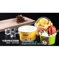 12oz 360ml 34oz 1000ml ice cream paper cup and paper lid,double pe coating single wall recycled 16oz icecream cup 500ml