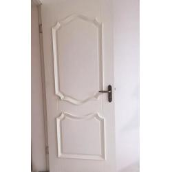 China White Bathroom Contemporary Interior Doors HDF Wood 35mm - 45mm Thickness on sale