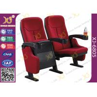 Plastic Outer Frame Theatre Seating Chairs With Bottle Holder Fixed Legs