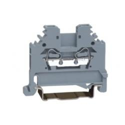 China Gray 600V 15A SP225 2 Way Conductor Through Spring Cage Terminal Block on sale