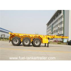 China 3 axle 40ft shipping container transport chassis semi trailer on sale