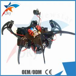China 20DOF Hexapod Robot Claw Machine Kit , Diy Robot Kit , Full Steering Bracket Accessories Black on sale