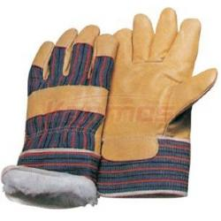 China Pasted Cuff Pig Grain Ladies Winter Leather Gloves / Glove 22302 on sale