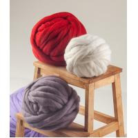 Super chunky yarn, super bulky, pure merino wool is a perfect wool for arm or giant needles knitting.