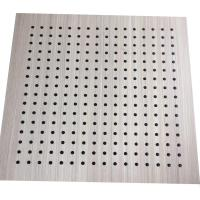 Interior Decoration MDF Board Wood Perforated Studio Room Acoustic Insulation Panel