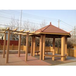 China Ourdoor WPC Construction , Sunsheds WPC Pergola For Rest And Decoration on sale