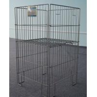 Foldable Metal Wire Basket , Produce Display Baskets Customized Color