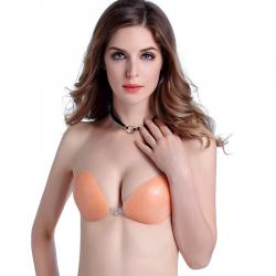 China FC007 Invisible Cleavage Enhancing Bra Silicone push up Bras/silicone bra push up on sale