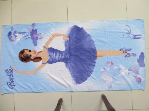 China Factory Custom beach towel printing , customize printed beach towel 100% microfiber supplier