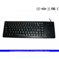 Compact Plastic Industrial Computer Keyboard IP65 With Function Keys And Trackball