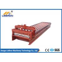 Red color Factory directly supply Color Steel Glazed Tile Roll Forming Machine CNC Control Automatic 2018 new type