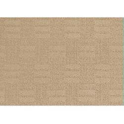 China Beige Jacquard Wool Blended Luster Cut And Loop Pile Carpet , Soil Resistant on sale