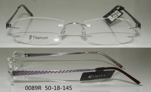 popular rimless glasses frames for men for wide faces flexible beta titanium