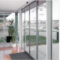 Slender fine-frame profiles Commercial Automatic sliding doors system 4800*4200mm
