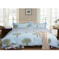 Nature Tree Pattern Luxury Home Bed Linen / Bed Sheet Set 330TC 100% Cotton