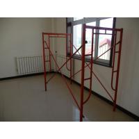 Painted Walk Through Tubular Steel Frame Scaffolding For Construction