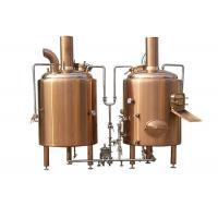 800L Electric Heated Pub Brewing System Red Cooper Materials With Semi - Antomatic Control