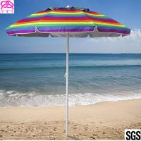 Promotional colourful sandy beach umbrella , sun beach umbrella made in China with best price