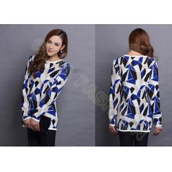 China Fancy Winter Crew Neck Sweaters in Jacquard Pattern Long Sleeve for Womens on sale