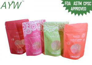 1 / 8oz Stand Up Food Packaging Bags Double Track Tab For Dried Flower Tea