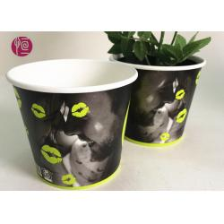 China Custom Blue Design Keep Calm Flower Paper Bowl For Water Plant on sale
