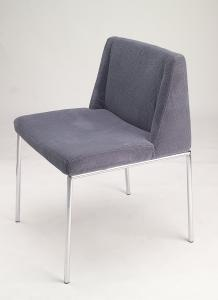 gray fabric armless leisure custom made dining chairs with low back livingroomfurnitures. Black Bedroom Furniture Sets. Home Design Ideas