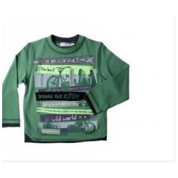 China  Green Cotton Long Sleeve cool cute Boy Toddler Graphic Tees,  Sport Shirts for kids  on sale