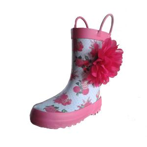 various of girls rubber boots,rubber rain boots,printing rain ...