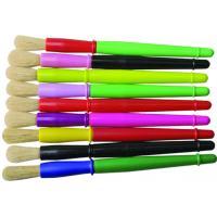 9 Colors Plastic Handle Paint Brushes , Colorful Watercolor Paint Brush Set OEM Avaliable