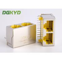 CAT 6 ganged 2 Port RJ45 keystone jack combo with gigabit ethernet transformer