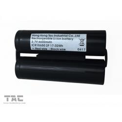 China 2 Cell Lithium Ion Battery 3.7V 4600mAh  ICR18650 Battery Pack for Head Light on sale