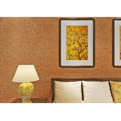 China 0.53*10m Mica Wall Covering / Non - Woven Living Room Modern Wallpaper Yellow Color on sale