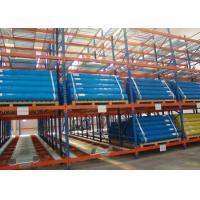 High density storage system pallet flow roller gravity rack