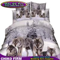 100% Cotton Queen Size 3D High Digital Wolf Printing Bedding Sets